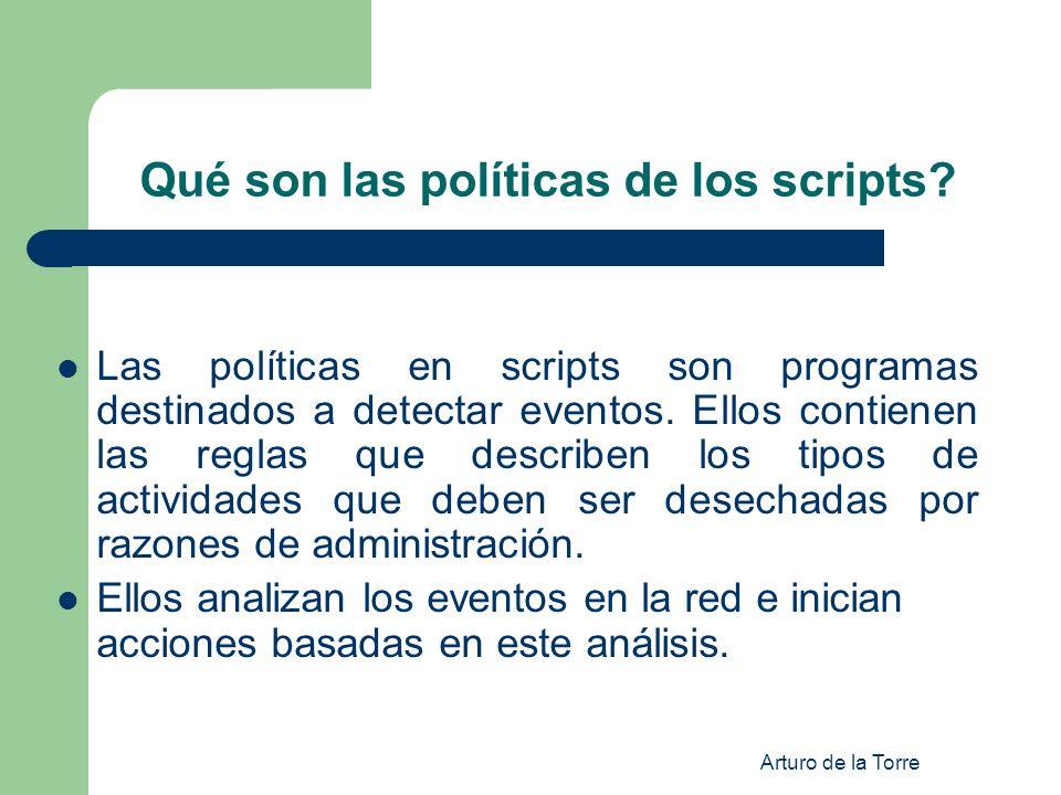 Qué son las políticas de los scripts