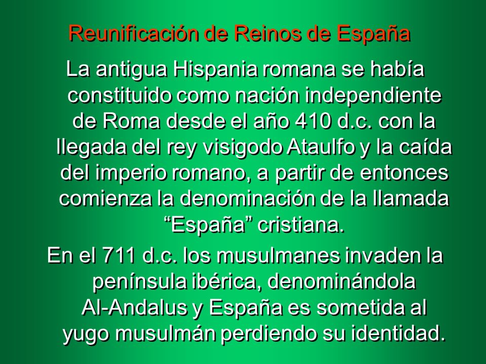 Reunificación de Reinos de España