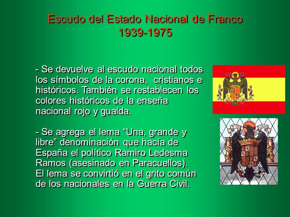 Escudo del Estado Nacional de Franco 1939-1975