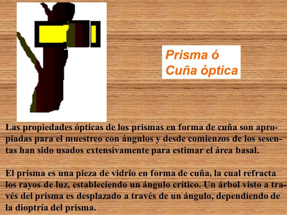 Prisma ó Cuña óptica. Las propiedades ópticas de los prismas en forma de cuña son apro-