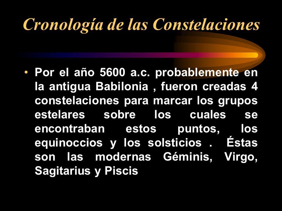 Cronología de las Constelaciones