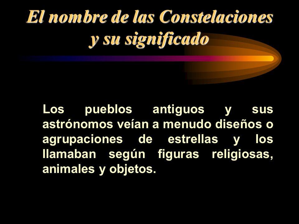 El nombre de las Constelaciones y su significado
