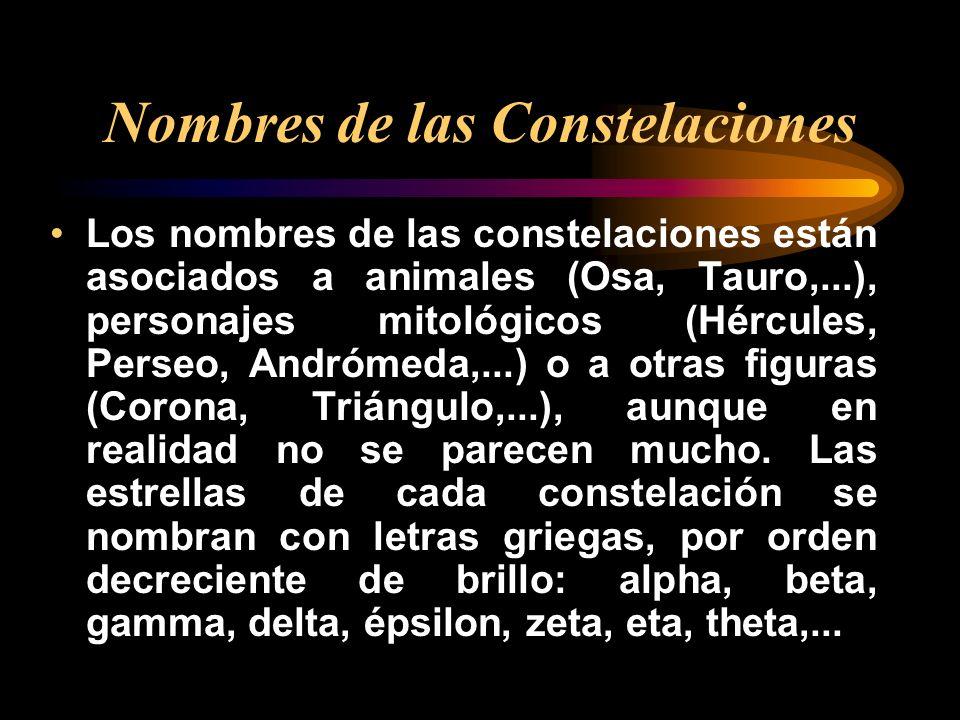 Nombres de las Constelaciones