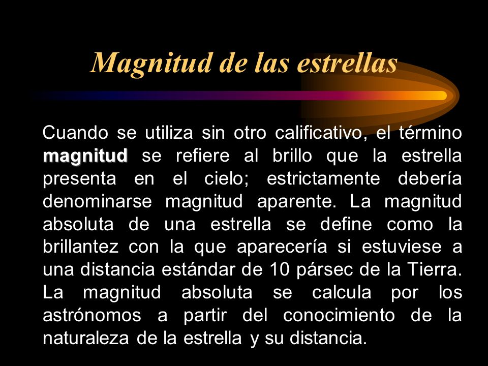 Magnitud de las estrellas