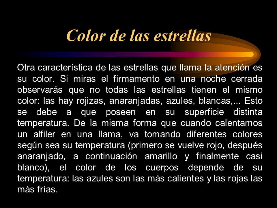 Color de las estrellas