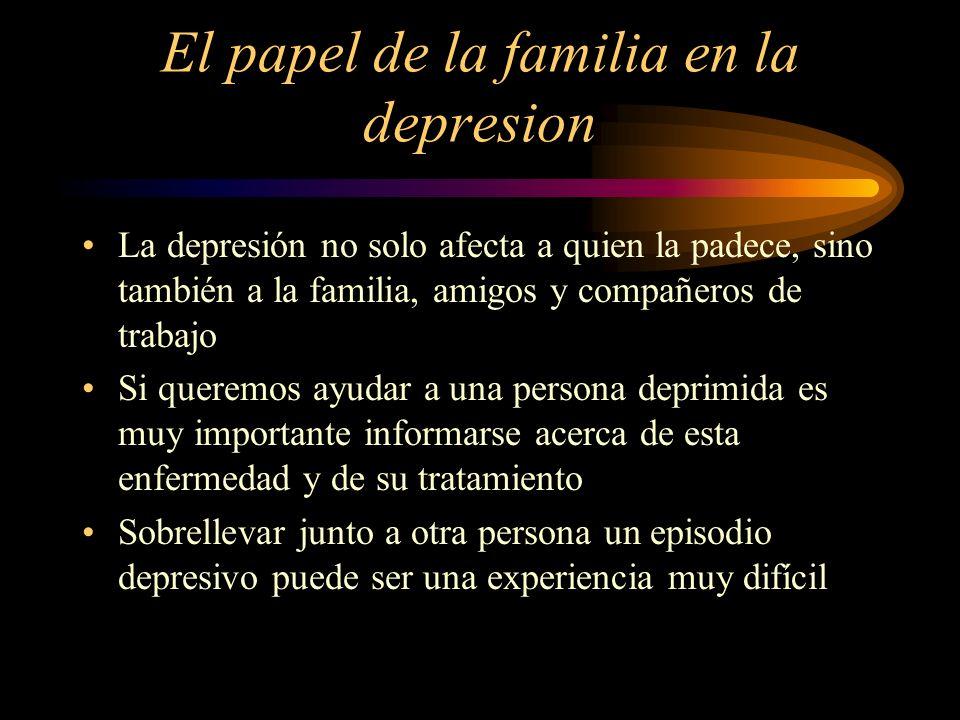 El papel de la familia en la depresion