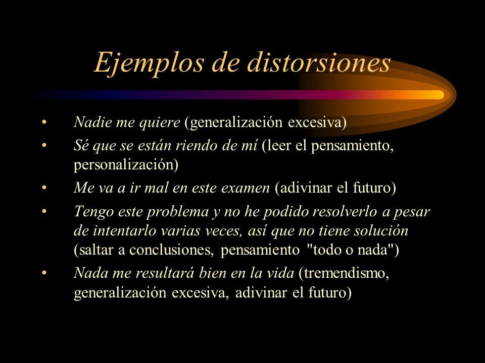 Ejemplos de distorsiones