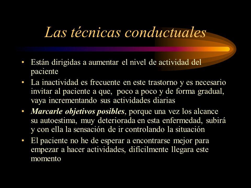 Las técnicas conductuales
