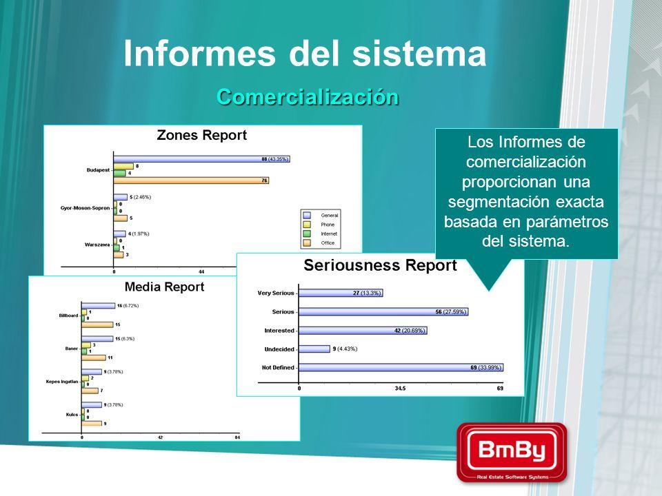 Informes del sistema Comercialización