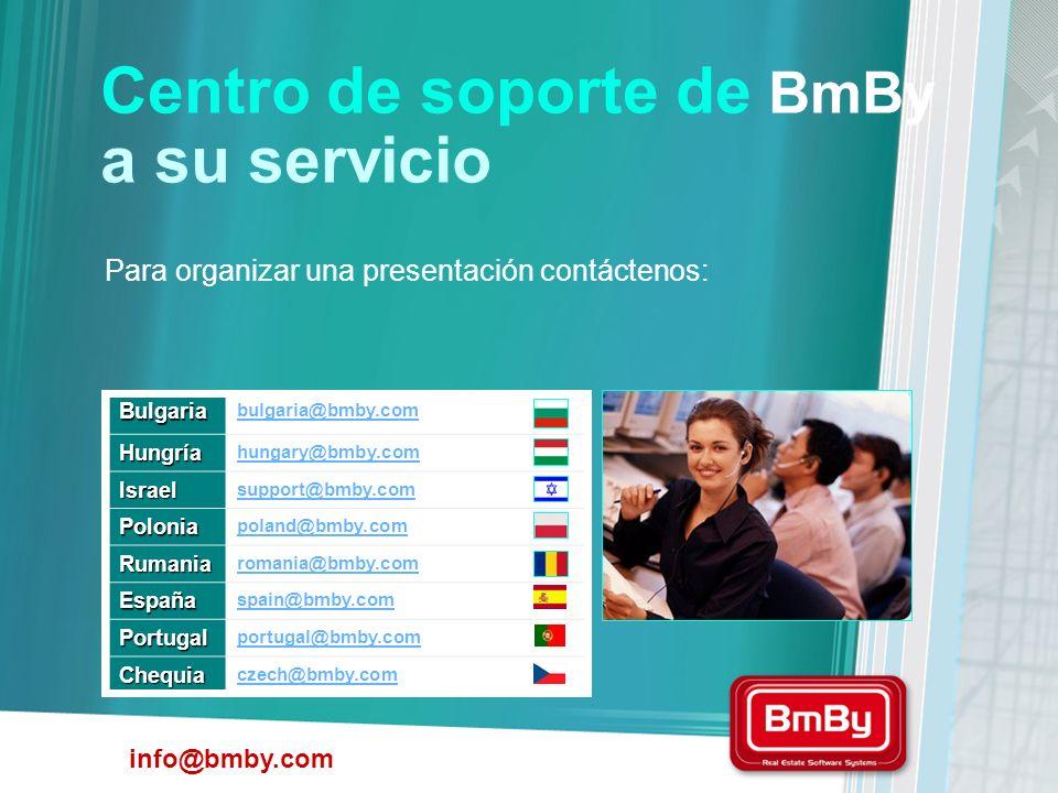 Centro de soporte de BmBy a su servicio