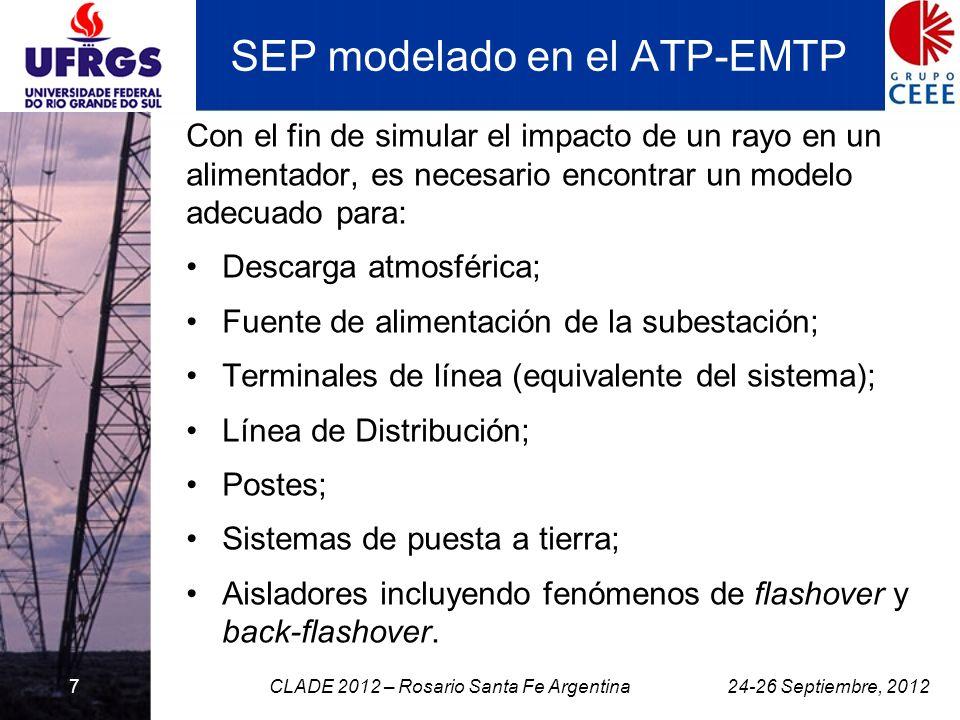 SEP modelado en el ATP-EMTP