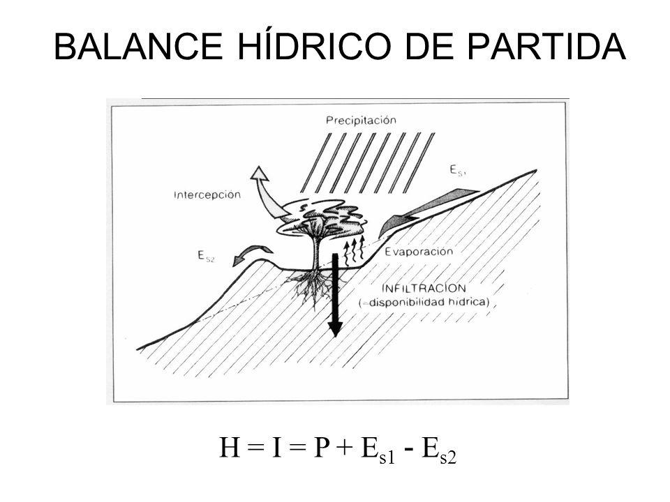 BALANCE HÍDRICO DE PARTIDA
