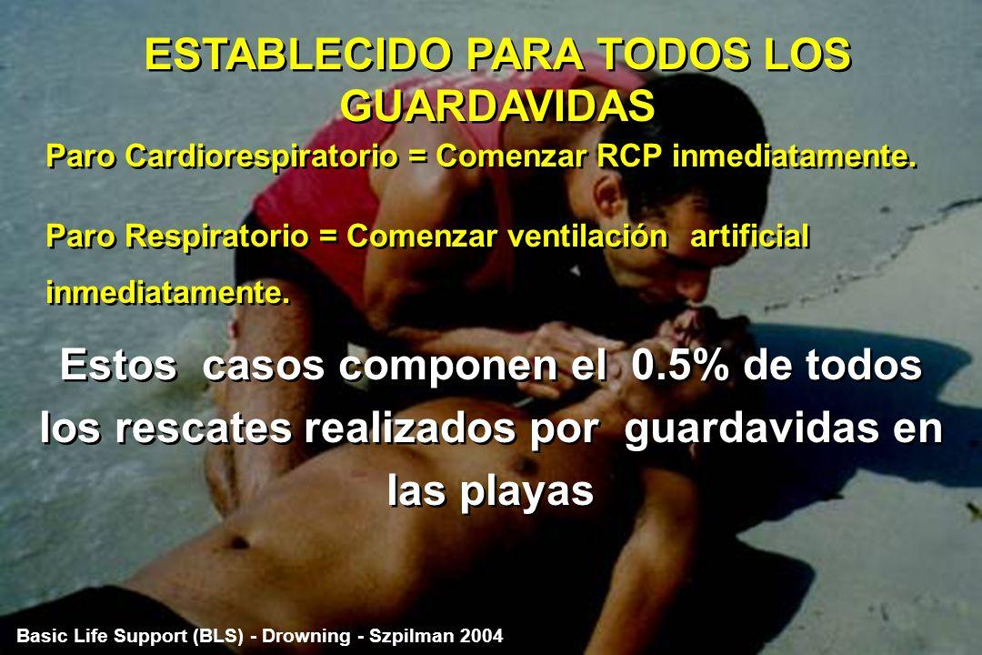 ESTABLECIDO PARA TODOS LOS GUARDAVIDAS
