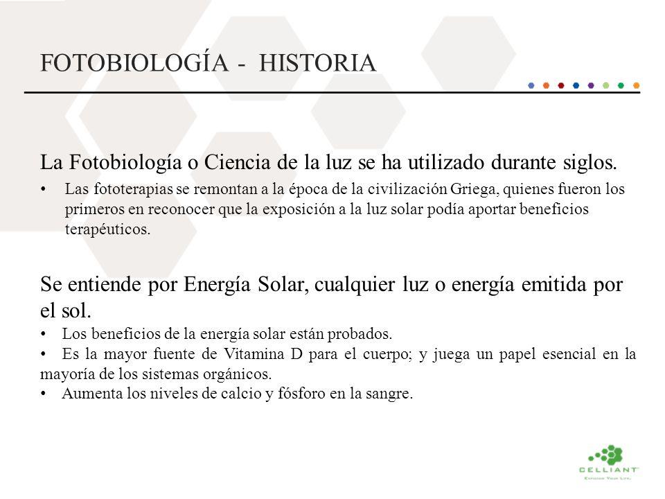 FOTOBIOLOGÍA - HISTORIA