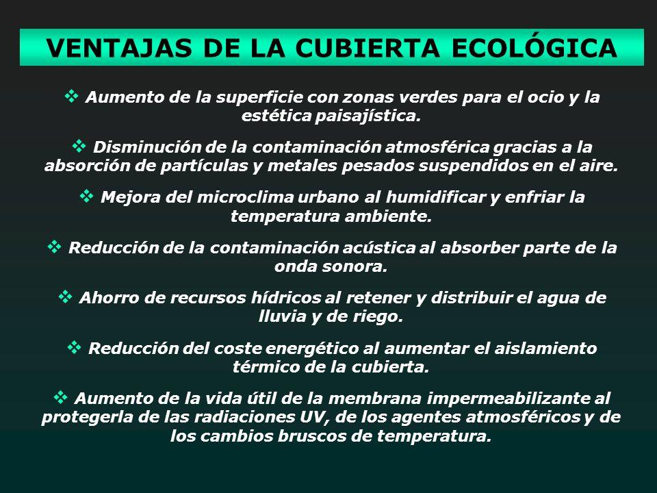 VENTAJAS DE LA CUBIERTA ECOLÓGICA