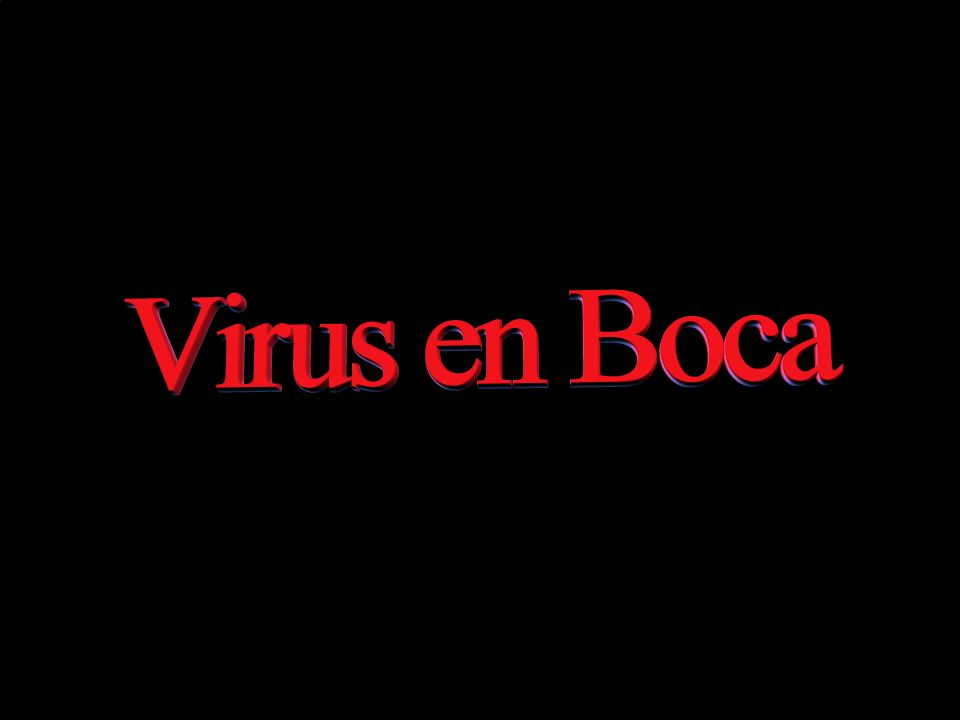 Virus en boca