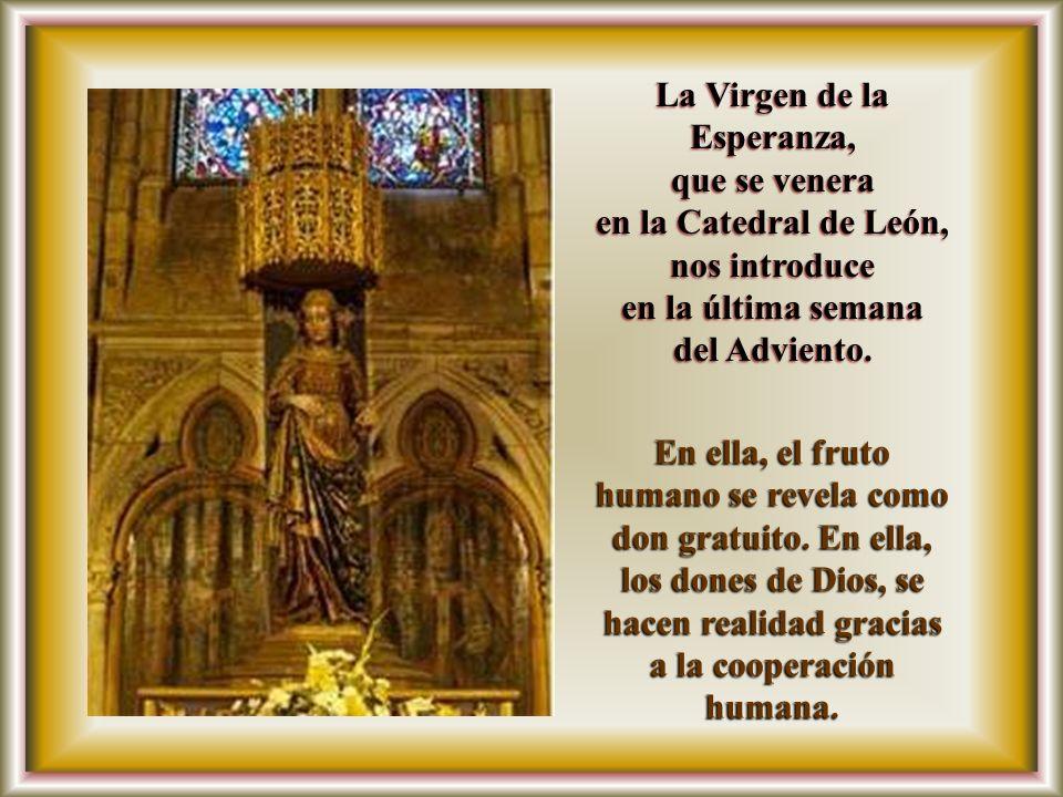 La Virgen de la Esperanza, en la Catedral de León, nos introduce
