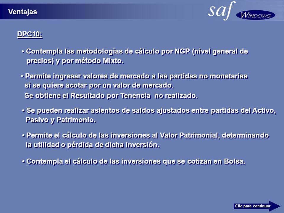 Contempla las metodologías de cálculo por NGP (nivel general de