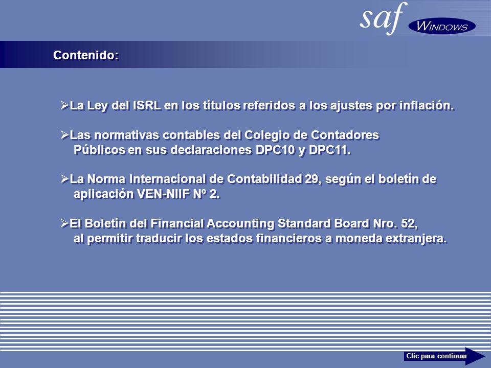 La Ley del ISRL en los títulos referidos a los ajustes por inflación.