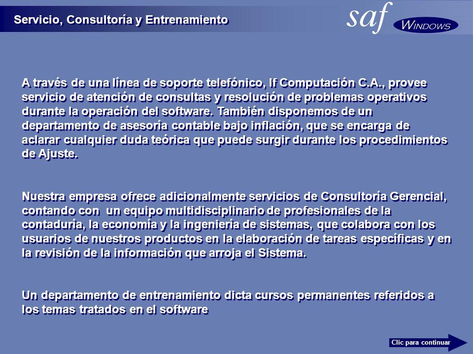 Servicio, Consultoría y Entrenamiento