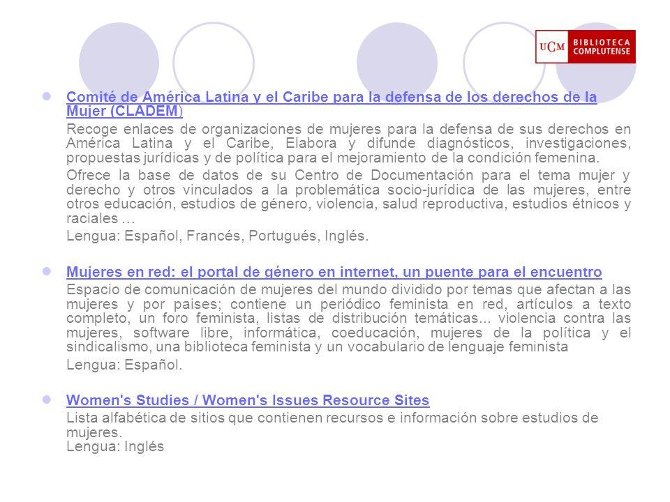 Comité de América Latina y el Caribe para la defensa de los derechos de la Mujer (CLADEM)