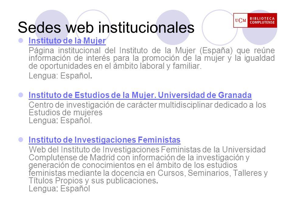 Sedes web institucionales