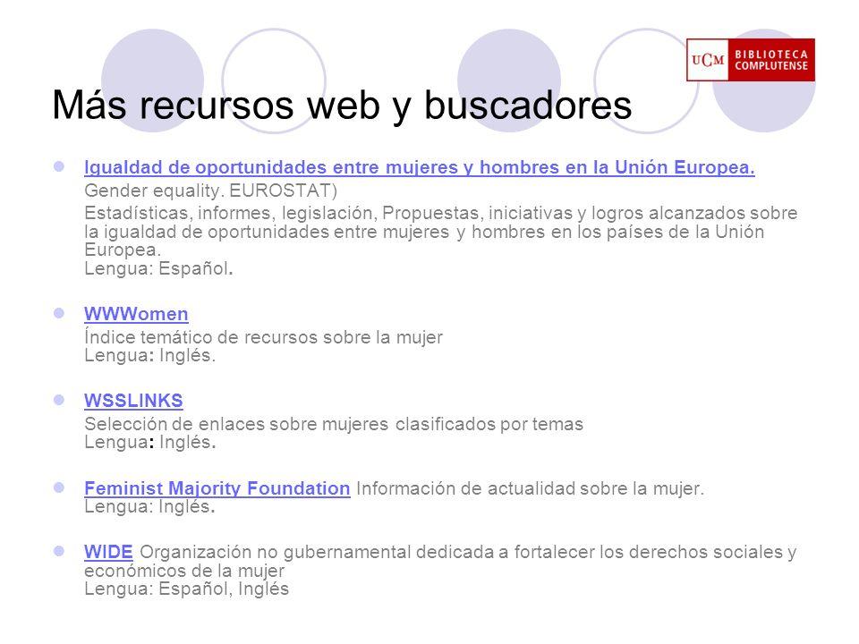 Más recursos web y buscadores
