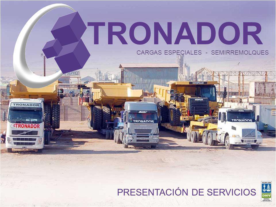 TRONADOR CARGAS ESPECIALES - SEMIRREMOLQUES PRESENTACIÓN DE SERVICIOS