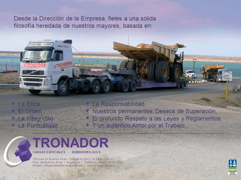TRONADOR CARGAS ESPECIALES - SEMIRREMOLQUES