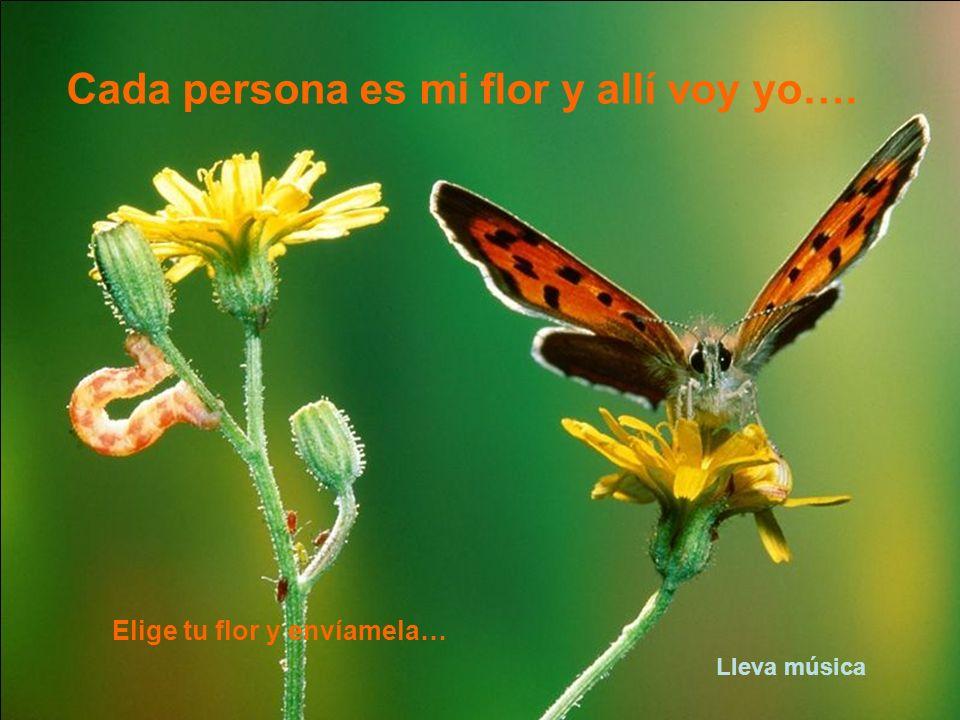 Cada persona es mi flor y allí voy yo….