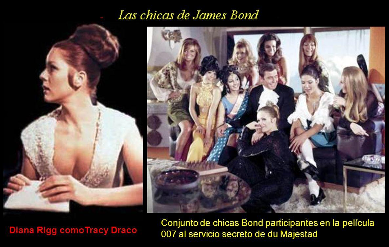 Conjunto de chicas Bond participantes en la película 007 al servicio secreto de du Majestad