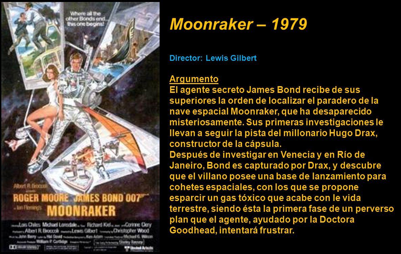 Moonraker – 1979 Director: Lewis Gilbert. Argumento.