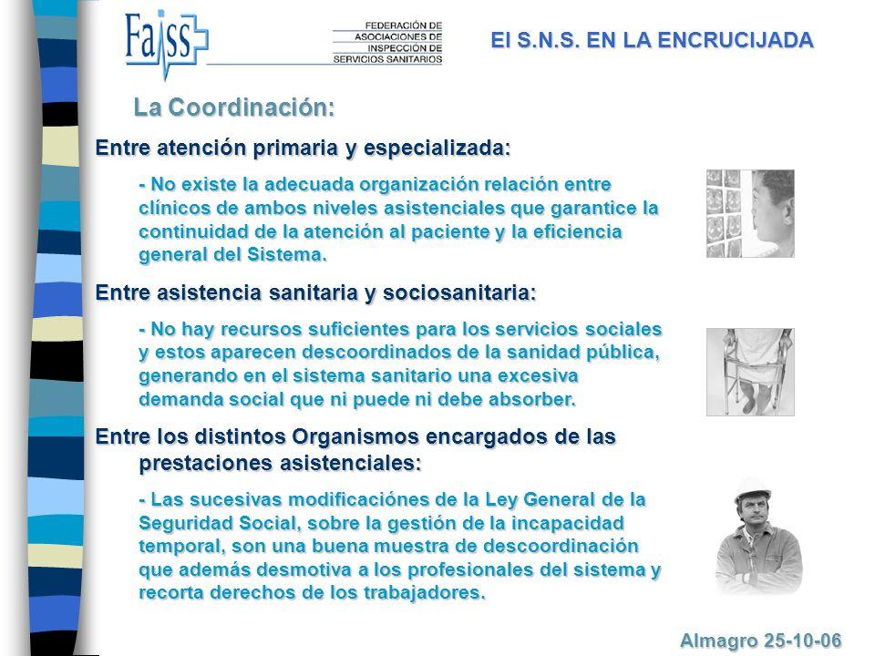 La Coordinación: El S.N.S. EN LA ENCRUCIJADA