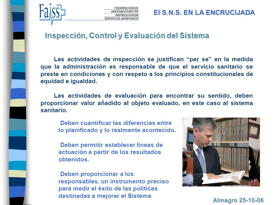 Inspección, Control y Evaluación del Sistema
