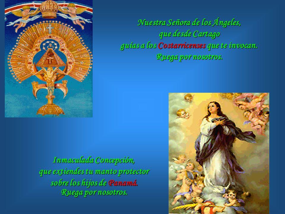 Inmaculada Concepción, que extiendes tu manto protector