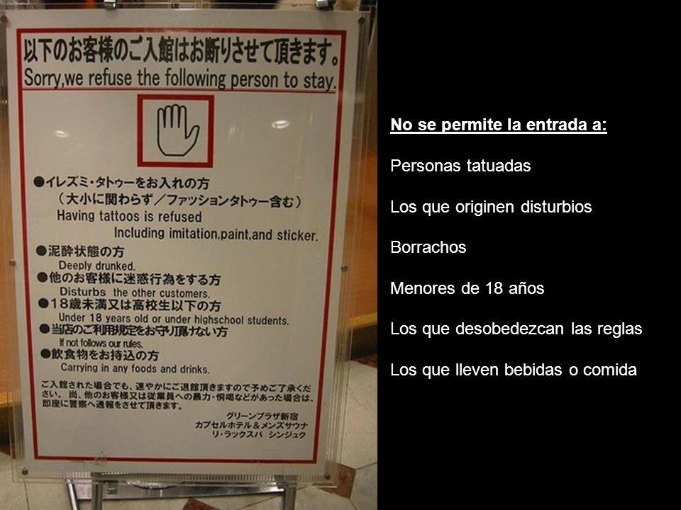 No se permite la entrada a:
