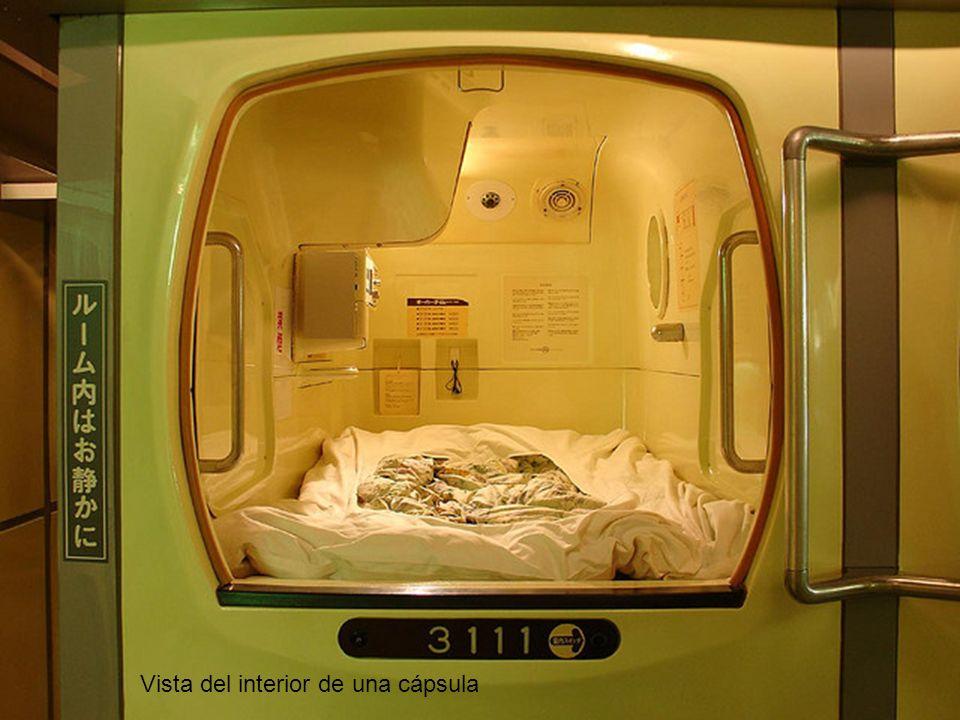 Vista del interior de una cápsula