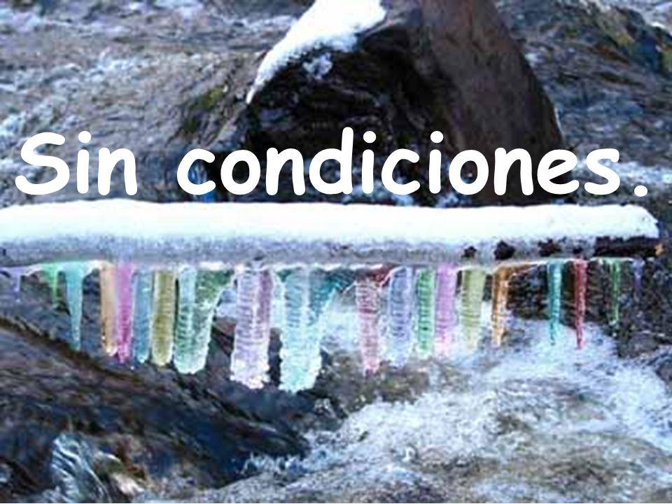 Sin condiciones.