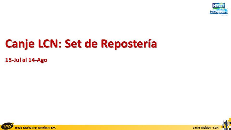 Canje LCN: Set de Repostería