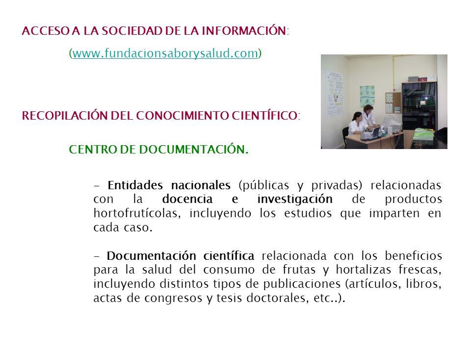 ACCESO A LA SOCIEDAD DE LA INFORMACIÓN:
