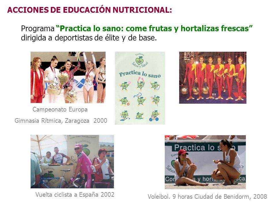 ACCIONES DE EDUCACIÓN NUTRICIONAL: