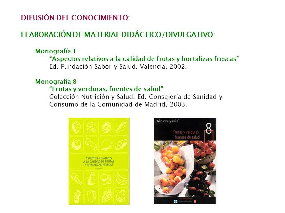 DIFUSIÓN DEL CONOCIMIENTO:
