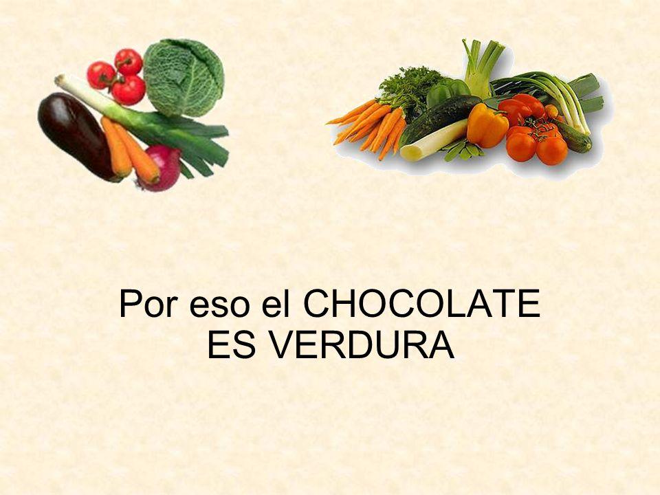Por eso el CHOCOLATE ES VERDURA