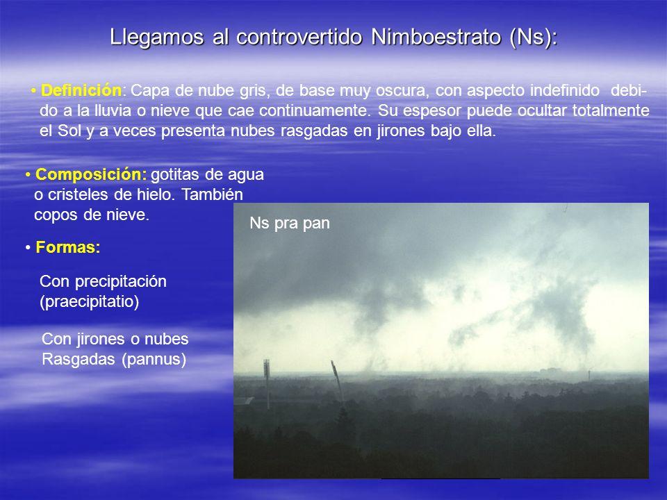 Llegamos al controvertido Nimboestrato (Ns):