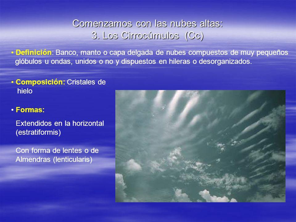 Comenzamos con las nubes altas: 3. Los Cirrocúmulos (Cc)