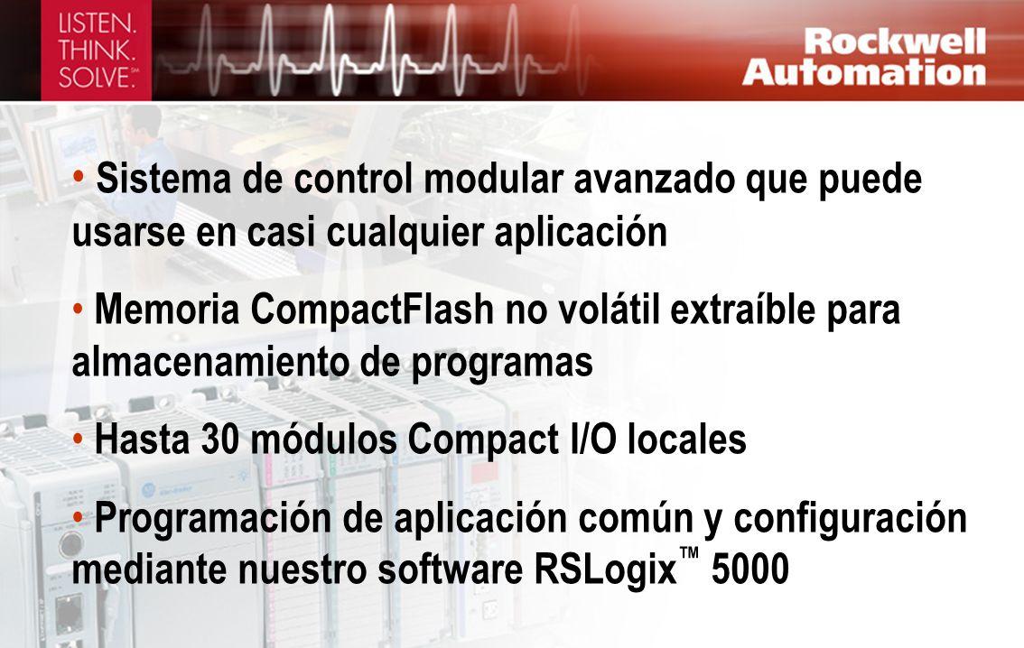 Sistema de control modular avanzado que puede usarse en casi cualquier aplicación