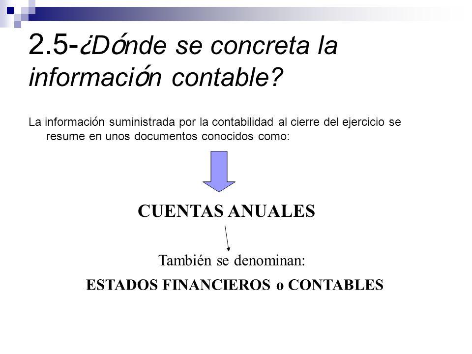2.5-¿Dónde se concreta la información contable