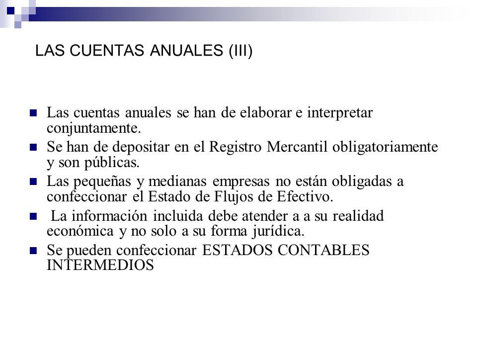 LAS CUENTAS ANUALES (III)