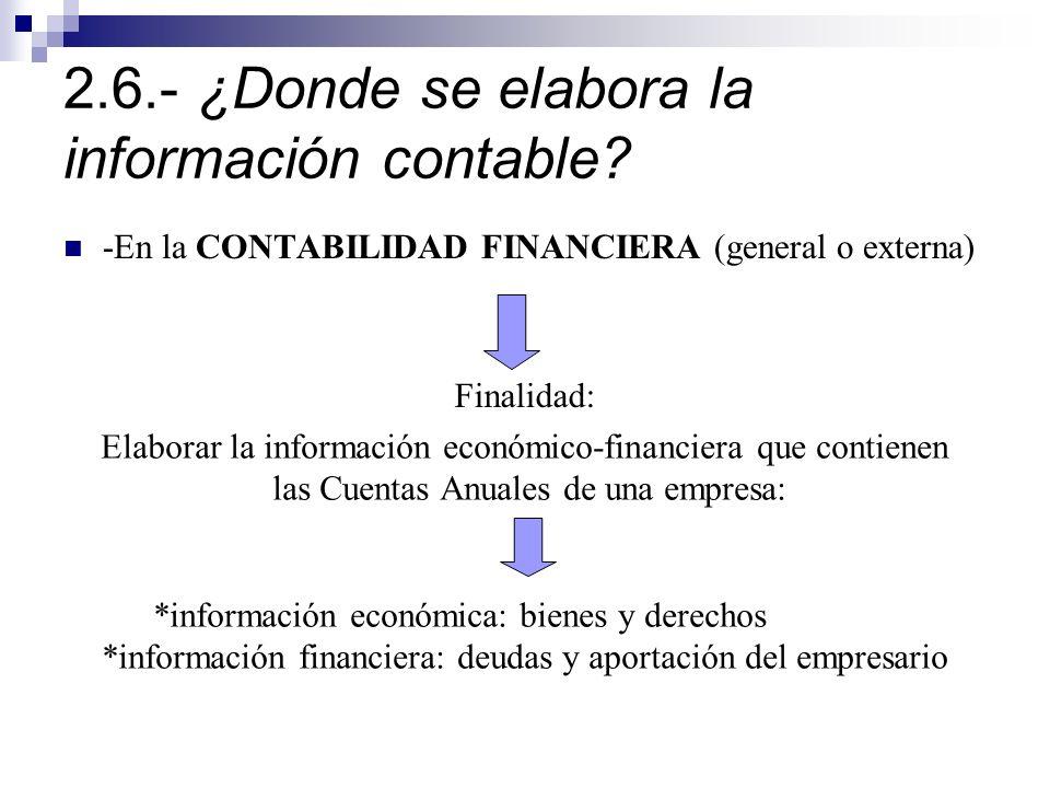2.6.- ¿Donde se elabora la información contable