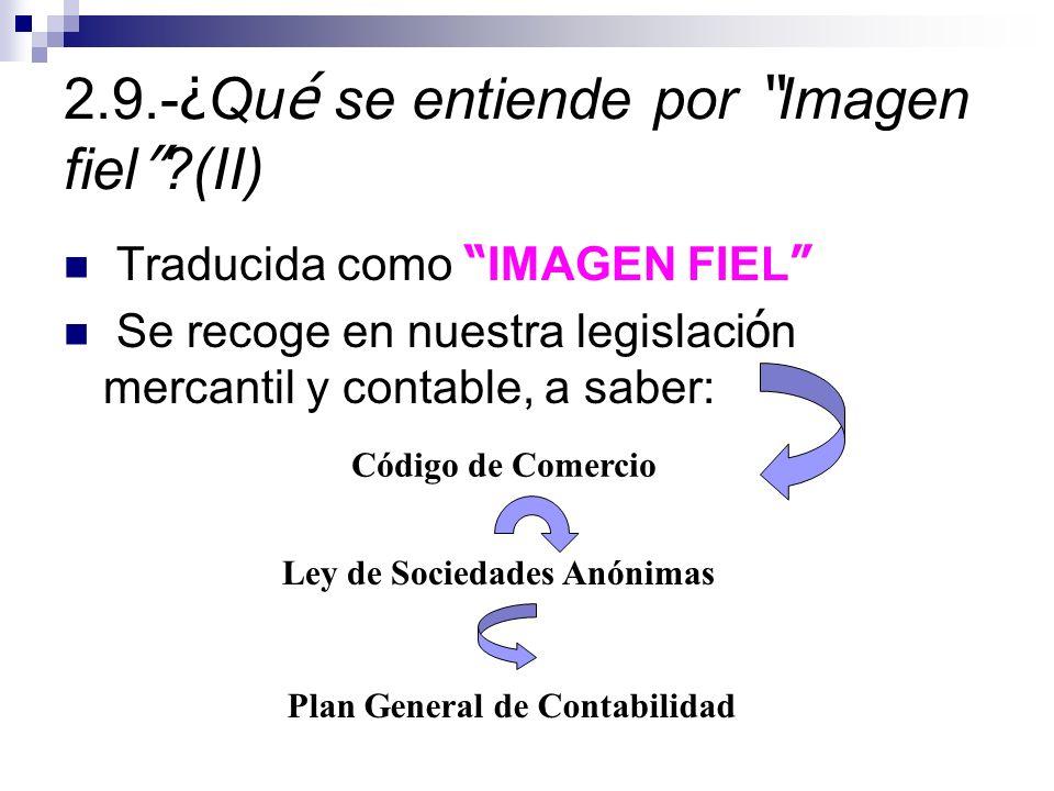 2.9.-¿Qué se entiende por Imagen fiel (II)